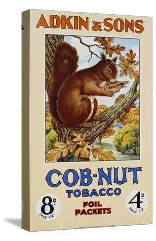 Adkin and Sons: Cob-Nut Tobacco Foil Packets Poster--Stretched Canvas Print