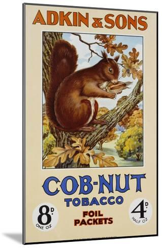 Adkin and Sons: Cob-Nut Tobacco Foil Packets Poster--Mounted Giclee Print
