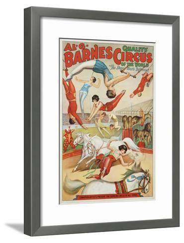 Al G. Barnes Circus - Quality Circus of the World Poster--Framed Art Print