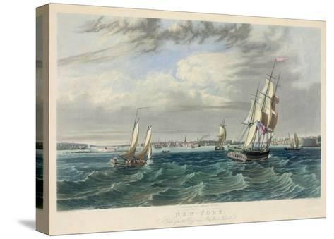 New York Harbor--Stretched Canvas Print