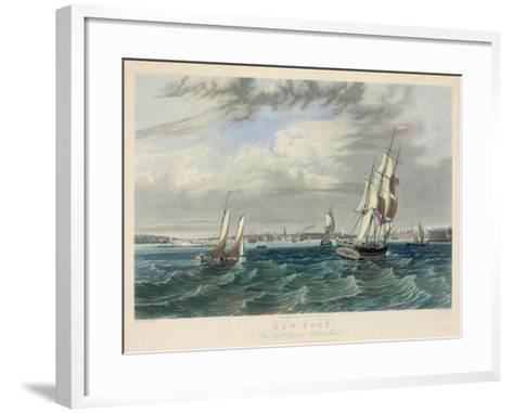 New York Harbor--Framed Art Print
