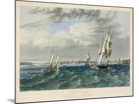 New York Harbor--Mounted Giclee Print