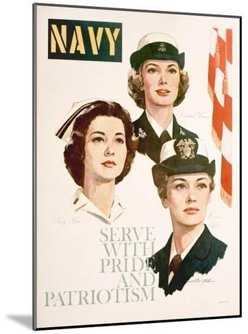Navy - Serve with Pride and Patriotism Recruiting Poster--Mounted Giclee Print