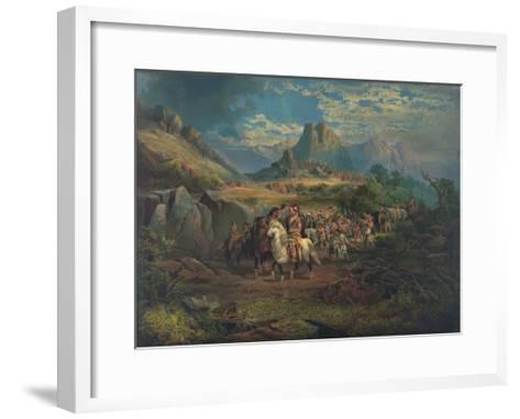 On the War Path--Framed Art Print