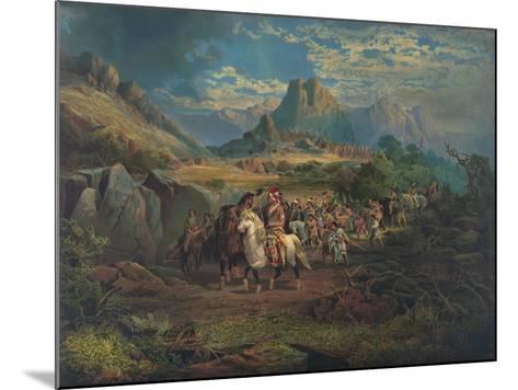 On the War Path--Mounted Giclee Print