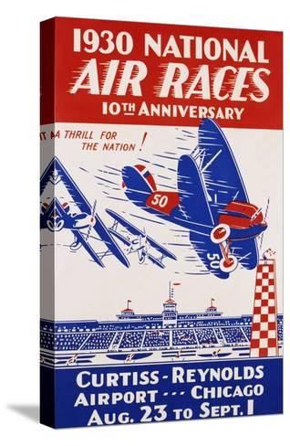 American Poster for 1930 National Air Races--Stretched Canvas Print