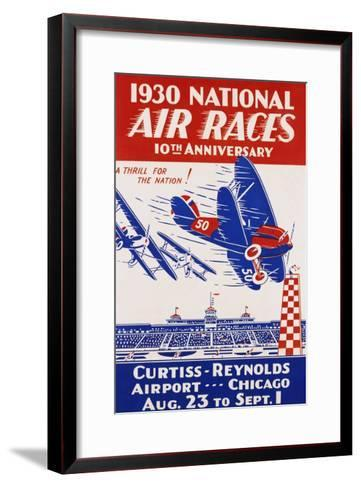 American Poster for 1930 National Air Races--Framed Art Print