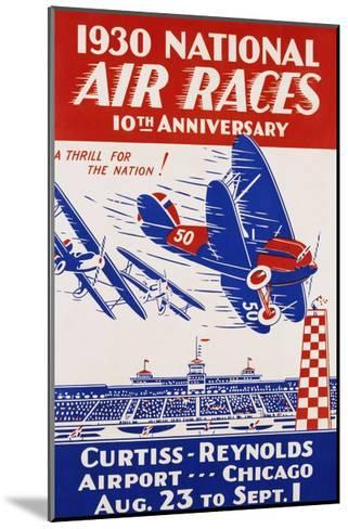 American Poster for 1930 National Air Races--Mounted Giclee Print
