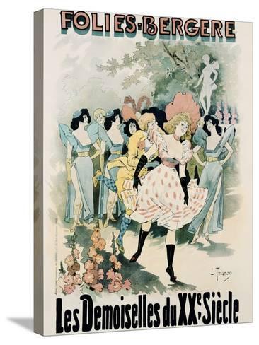 Folies-Bergere: Les Demoiselles Du Vingtieme Siecle Poster-A. Trinquier-Trianon-Stretched Canvas Print
