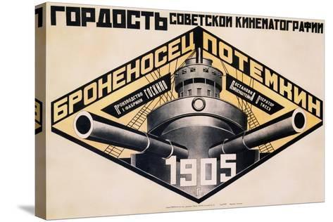 Battleship Potemkin 1905 Poster-Alexander Rodchenko-Stretched Canvas Print