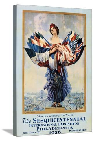 The Sesquicentennial International Exposition - Philadelphia 1926 Poster-Dan Smith-Stretched Canvas Print