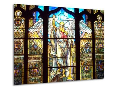 Angel of the Resurrection Stained Glass Window-Louis Comfort Tiffany-Metal Print
