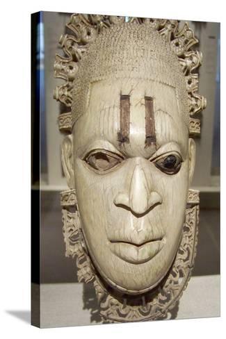 Benin Iyoba Pendant Mask--Stretched Canvas Print