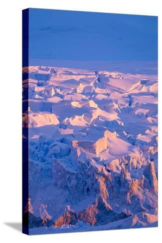 Midnight Sun Lights Glacier, Antarctica-Paul Souders-Stretched Canvas Print