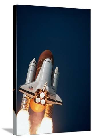 Launch of Space Shuttle Discovery--Stretched Canvas Print