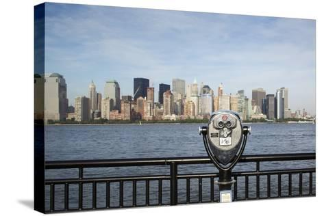 Manhattan Skyline from New Jersey-Paul Souders-Stretched Canvas Print