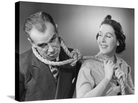 Wife Leading Husband with Noose-Philip Gendreau-Stretched Canvas Print