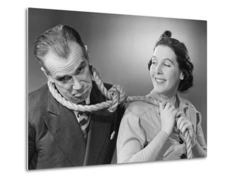 Wife Leading Husband with Noose-Philip Gendreau-Metal Print