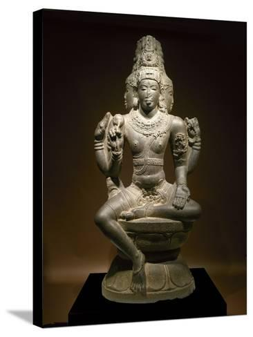 Sculpture of Shiva--Stretched Canvas Print