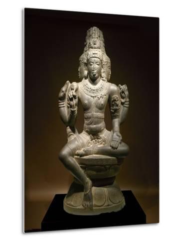 Sculpture of Shiva--Metal Print
