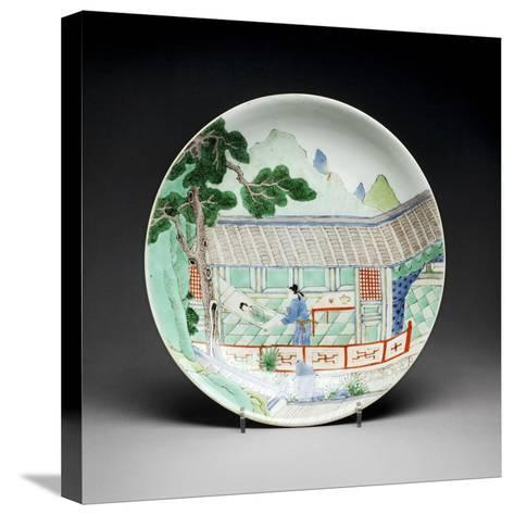 Qing Dynasty Porcelain Plate--Stretched Canvas Print