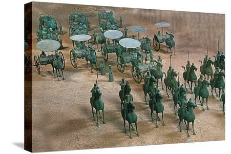 Eastern Han Dynasty Bronze Cavalry and Chariots--Stretched Canvas Print