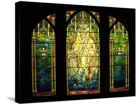 Tiffany Stained Glass Window--Stretched Canvas Print