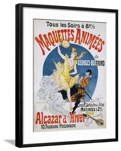 Maquettes Animees De Georges Bertrand Poster-Jules Ch?ret-Framed Art Print