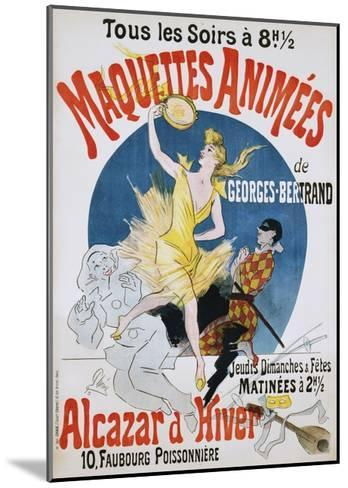 Maquettes Animees De Georges Bertrand Poster-Jules Ch?ret-Mounted Giclee Print