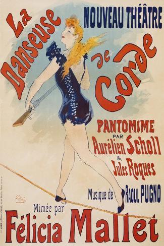 La Danseuse De Corde-Jules Ch?ret-Stretched Canvas Print