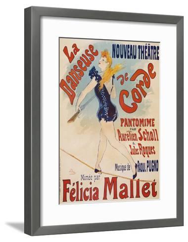 La Danseuse De Corde-Jules Ch?ret-Framed Art Print