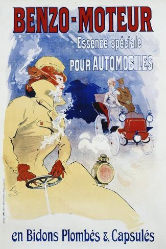 Benzo-Moteur Poster-Jules Ch?ret-Stretched Canvas Print