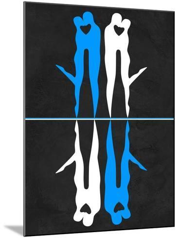 Blue and White Kiss-Felix Podgurski-Mounted Art Print