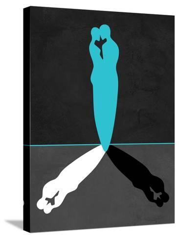 Blue Kiss Shadow-Felix Podgurski-Stretched Canvas Print