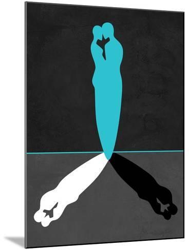 Blue Kiss Shadow-Felix Podgurski-Mounted Art Print