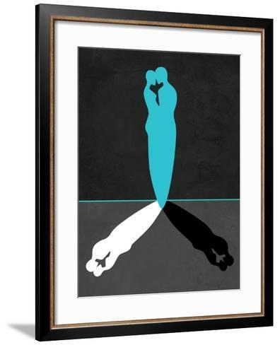 Blue Kiss Shadow-Felix Podgurski-Framed Art Print