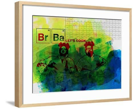 Br Ba Watercolor 1-Anna Malkin-Framed Art Print