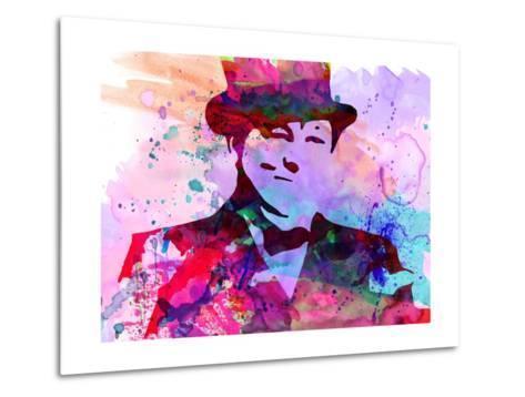 Churchill Watercolor-Anna Malkin-Metal Print