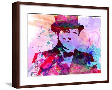 Churchill Watercolor-Anna Malkin-Framed Art Print