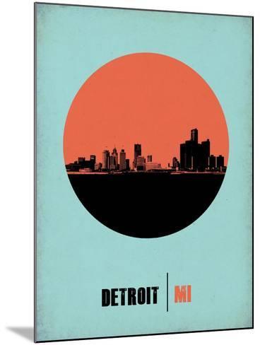 Detroit Circle Poster 2-NaxArt-Mounted Art Print