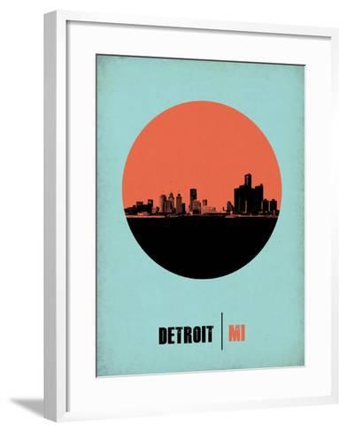 Detroit Circle Poster 2-NaxArt-Framed Art Print