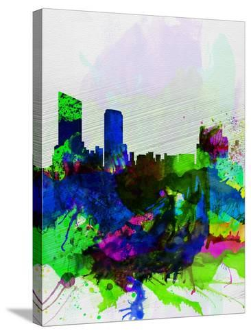 Grand Rapids Watercolor Skyline-NaxArt-Stretched Canvas Print