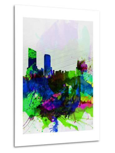 Grand Rapids Watercolor Skyline-NaxArt-Metal Print