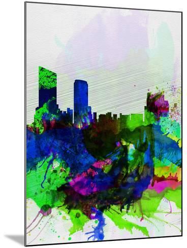 Grand Rapids Watercolor Skyline-NaxArt-Mounted Art Print