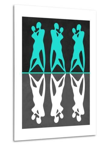Green and White Couple Dancing-Felix Podgurski-Metal Print