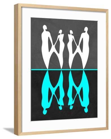 Green and White People-Felix Podgurski-Framed Art Print