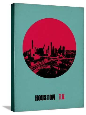Houston Circle Poster 2-NaxArt-Stretched Canvas Print