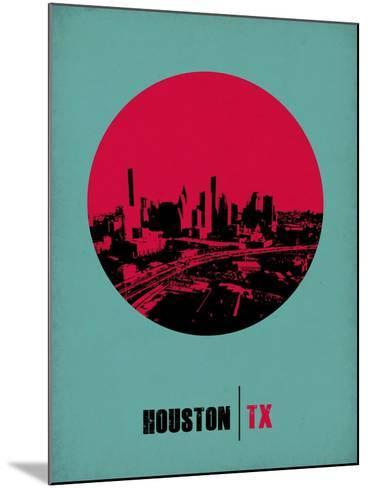 Houston Circle Poster 2-NaxArt-Mounted Art Print