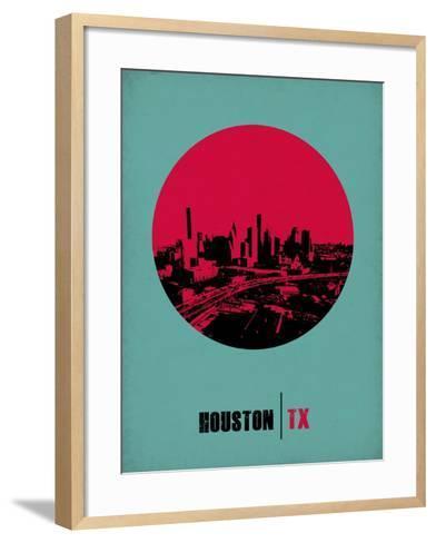 Houston Circle Poster 2-NaxArt-Framed Art Print