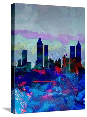 Atlanta Watercolor Skyline-NaxArt-Stretched Canvas Print